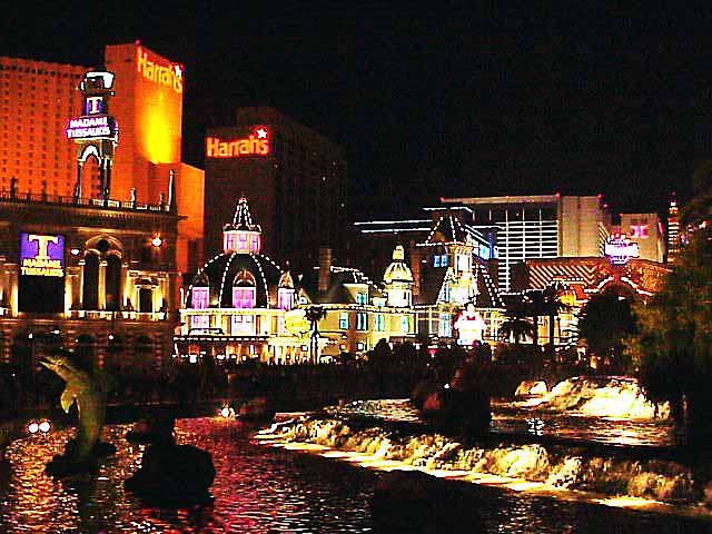 vegas strip at night. Las Vegas Strip by night