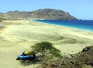 Cape Verde/Island of São Vicente: Nice camping spot at São Pedro beach in the Southwest of the island