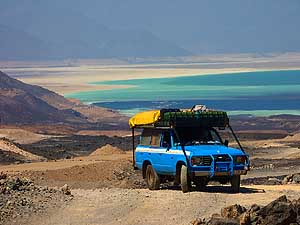 Djibouti: Lac Assal in the background