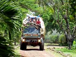 Annai in the Rupununi Savannah/Guyana: Supply goods on a Bedford truck from Boa Vista/Brasilia to Georgetown