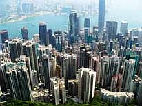 Hong Kong: From 'Hong Kong Peak' we get an excellent view of the 'skyscraper jungle'