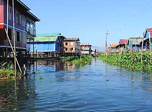 Inpawkhon/Inle Lake/Myanmar: Stilt vilage in the southwest of the lake