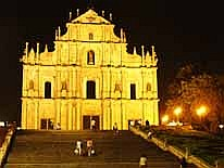 Macao: The 'St. Paul' ruin is an inspiring sight also at night