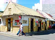 Mauritius/Island of Rodrigues/Port Mathurin: Corner Store in the capital of the 'laid back' island