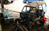 Miri/Sarawak/East Malaysia (Borneo): Engine and body overhaul of our LandCruiser from 6/20 to 8/30/2006
