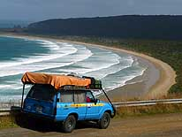 New Zealand: Tautuku Bay on the Chaslands Highway (Southern Scenic Route), about 28 miles Southwest of Owaka