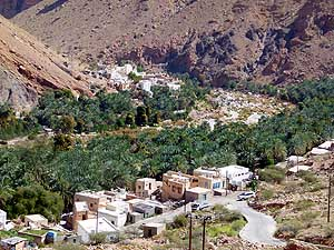 Oman/Wadi Tiwi/Harat Bidah: Typical oasis in a valley between Muscat and Sur