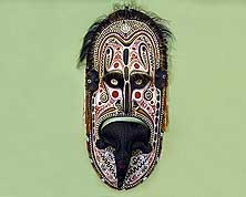Papua New Guinea: Traditionel Mask from the Highlands