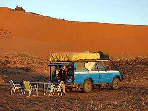Sudan: Campingsite at Mero� along the way from Khartoum to the Red Sea