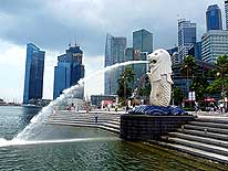 Singapore: Merlion - the Land- and Trademark of the Lion City