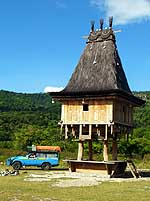 Com/East Timor (Timor-Leste): Traditional Fataluku house
