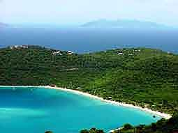 USVI: View over 'Magens Bay' - one of the most beautiful bays in the Caribbean