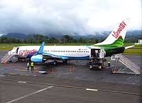 Vanuatu: Boeing 737-800 of Air Vanuatu at the airport of Port Vila