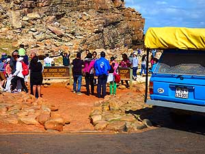 South Africa/Cape of Good Hope: Together with a lot of other tourists at the