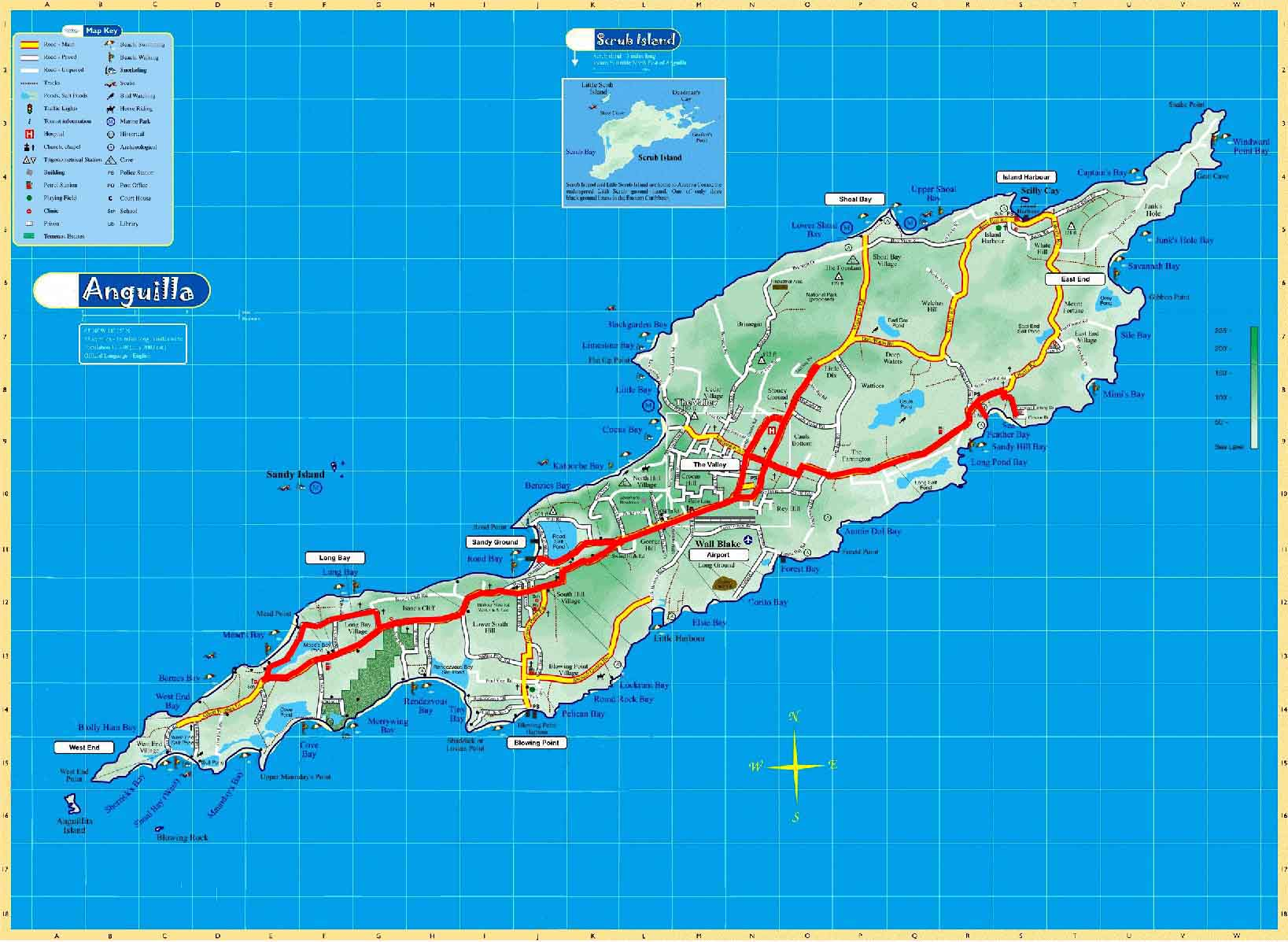 Worldrecordtour North America Caribbean Anguilla The Valley - Caribbean anguilla map