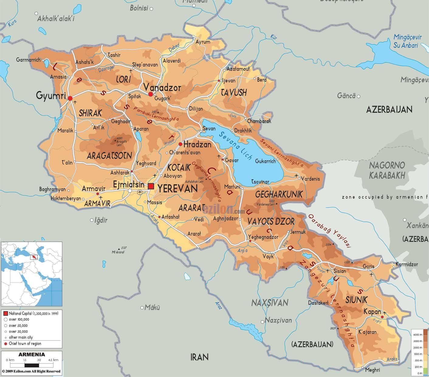 Weltrekordreise, Asien, Mittlerer Osten, Kaukasus, Armenien ...