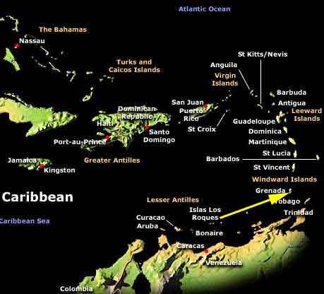 Worldrecordtour North America Caribbean Grenada St Georges - Map of grenada caribbean islands