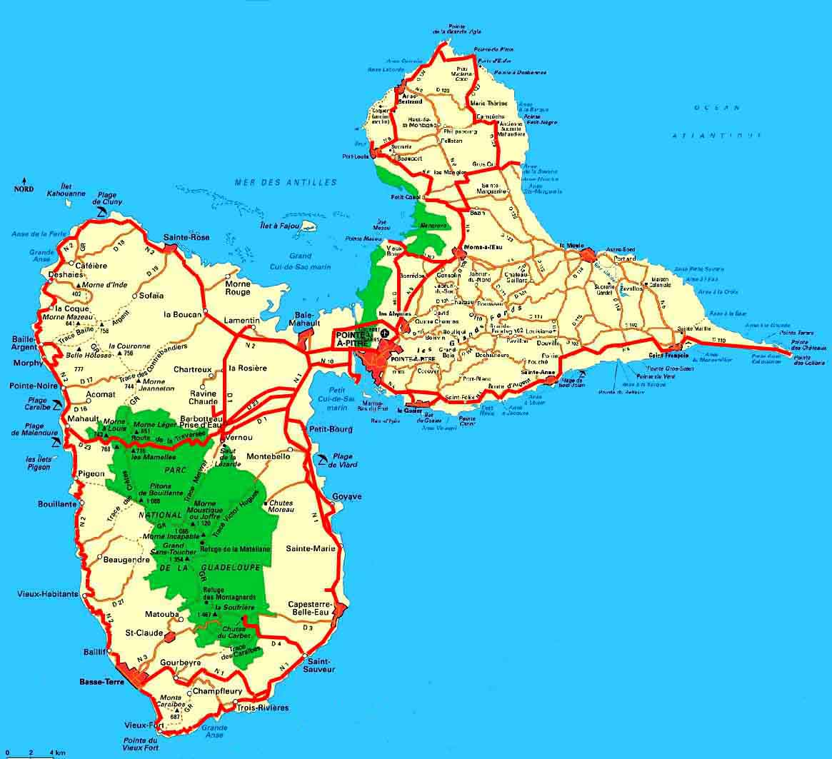 guadeloupe karte Weltrekordreise, Nord Amerika, Karibik, Guadeloupe, Pointe à Pitre