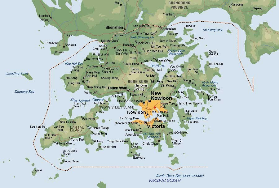 maps of hong kong. Hong Kong Map