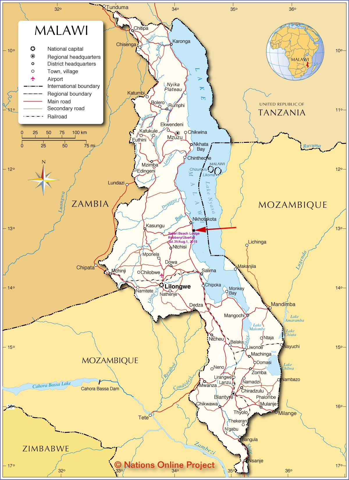 Malawi On Africa Map.Worldrecordtour Story Diary Pictures Africa Malalwi Lake