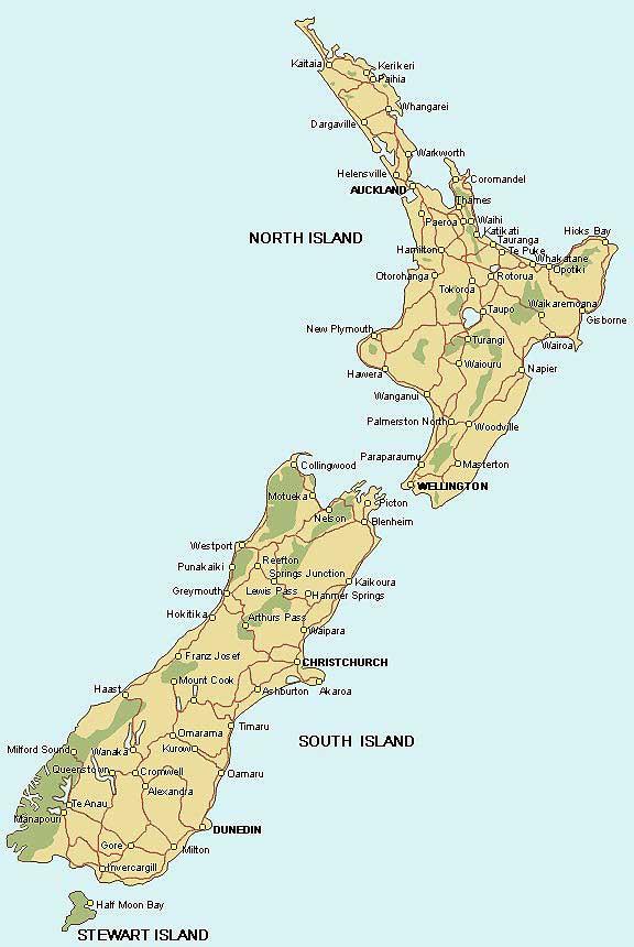 Neuseeland Nordinsel Karte.Weltrekordreise Ozeanien Pazifik Südsee Neuseeland Südinsel