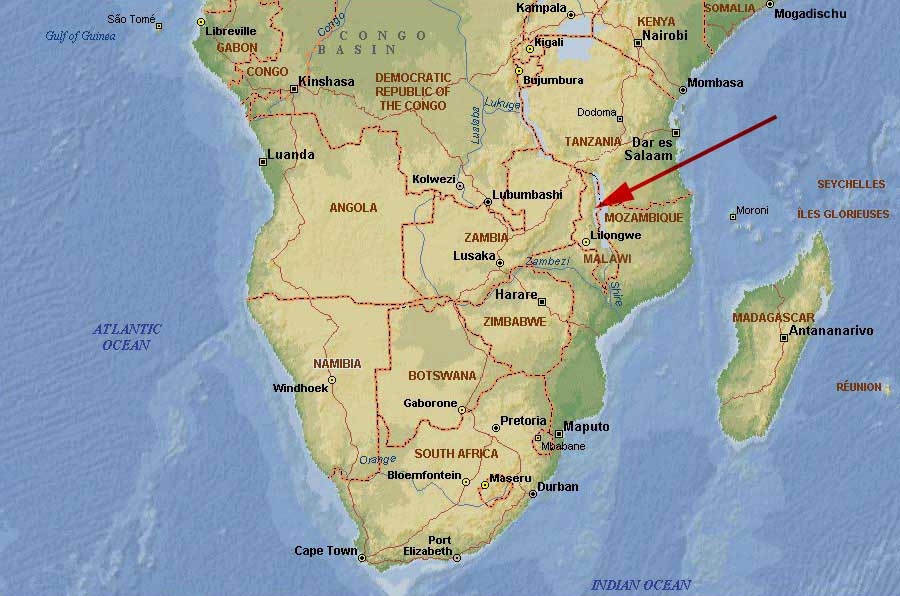 Southern Africa Map Worldrecordtour Story Diary Pictures