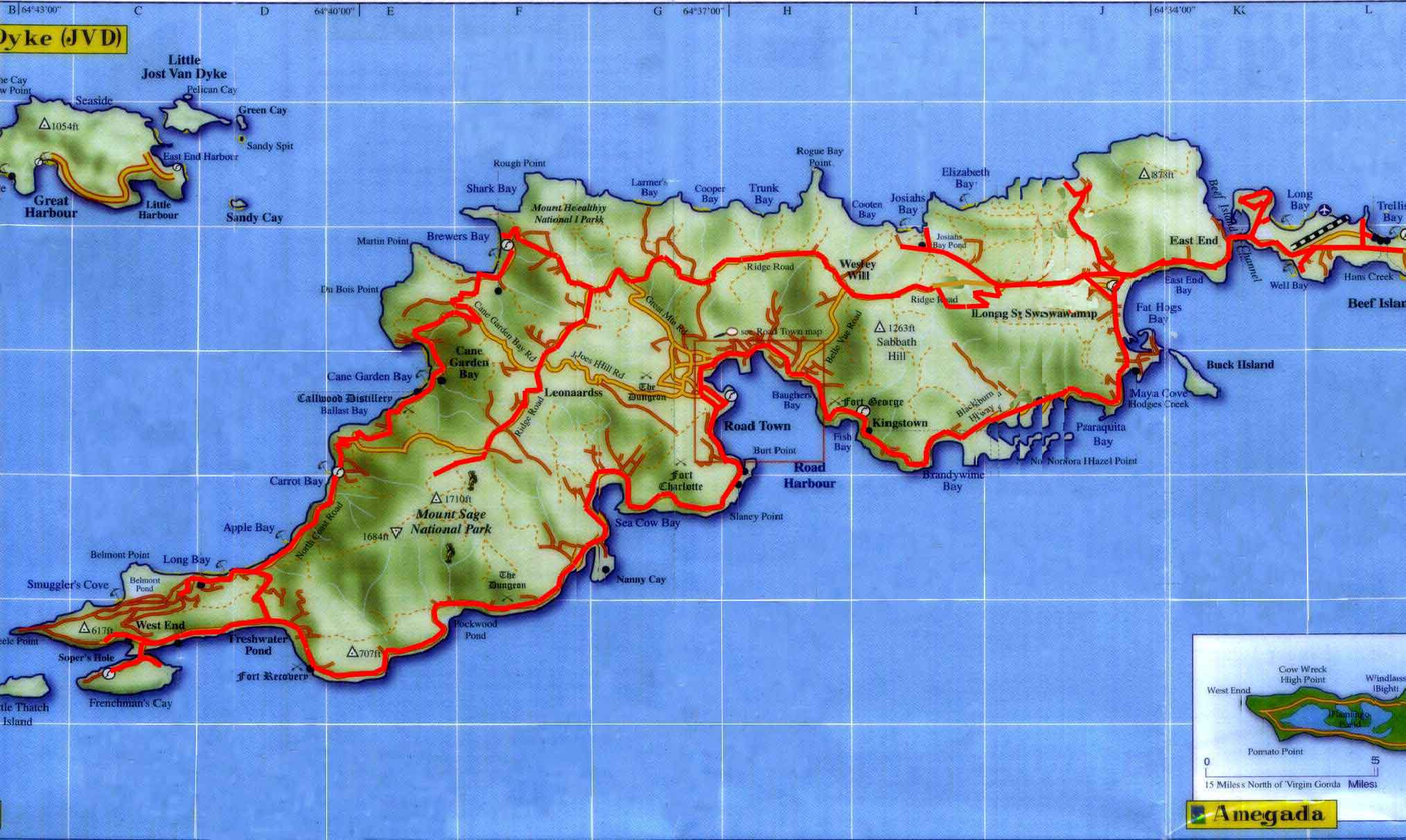 tortola map